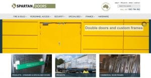 Spartan Doors Website