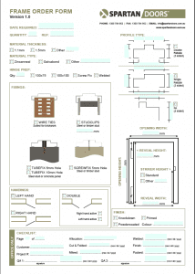 Door frame order form