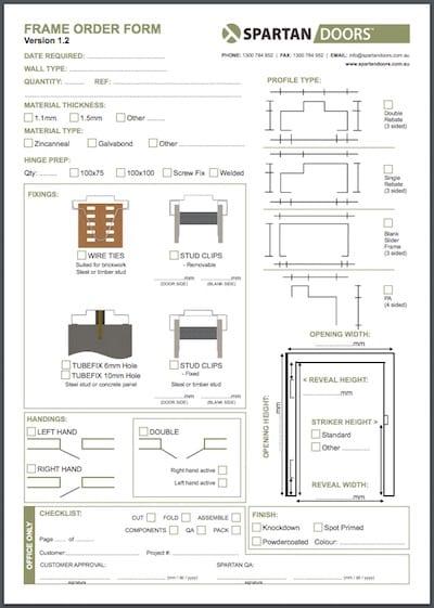 Calculating Door Sizes & Understanding Door Frames - Spartan Doors