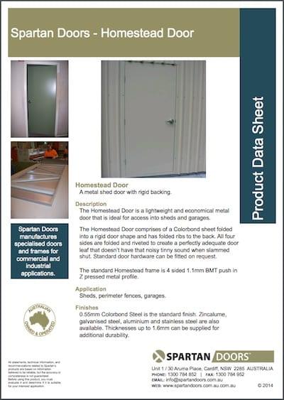 Shed Doors - Spartan Doors