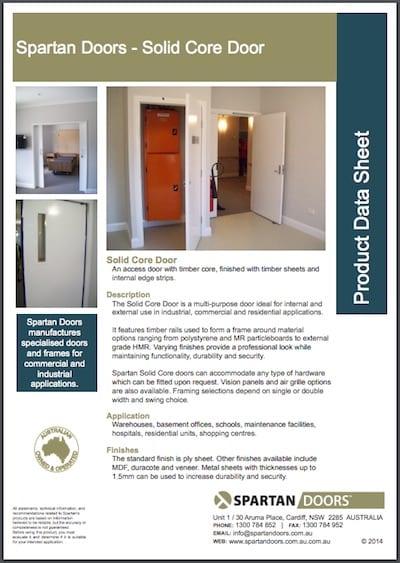 solid core door  sc 1 st  Spartan Doors & Solid Core Doors - Spartan Doors