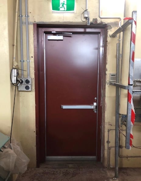 Sheeted and Capped Fire Doors