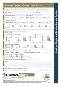 Steel Frame Order Form