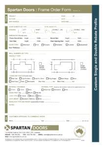 Steel Frame Order Form Printable